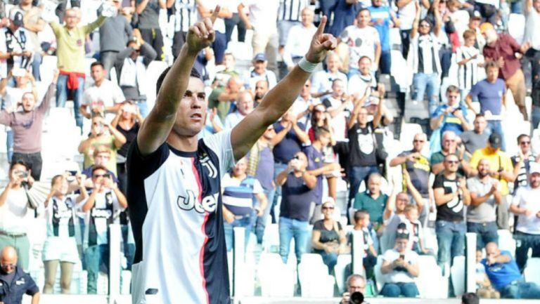Cristiano Ronaldo celebra un gol con Juventus