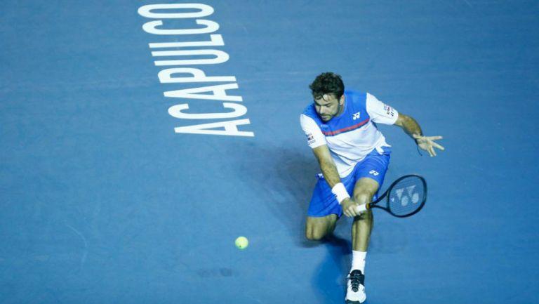 Stan Wawrinka en su debut en Abierto Mexicano de Tenis