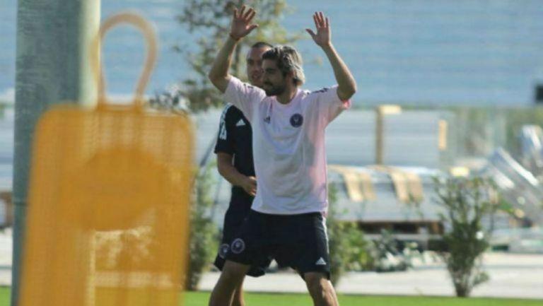 Rodolfo Pizarro en un entrenamiento en Miami