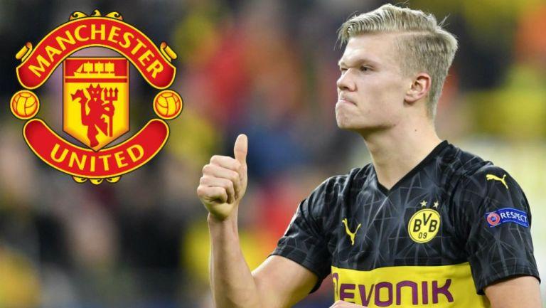 Haaland celebrando una anotación con Borussia Dortmund