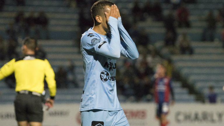 Ronaldo Prieto durante un partido con Tampico Madero