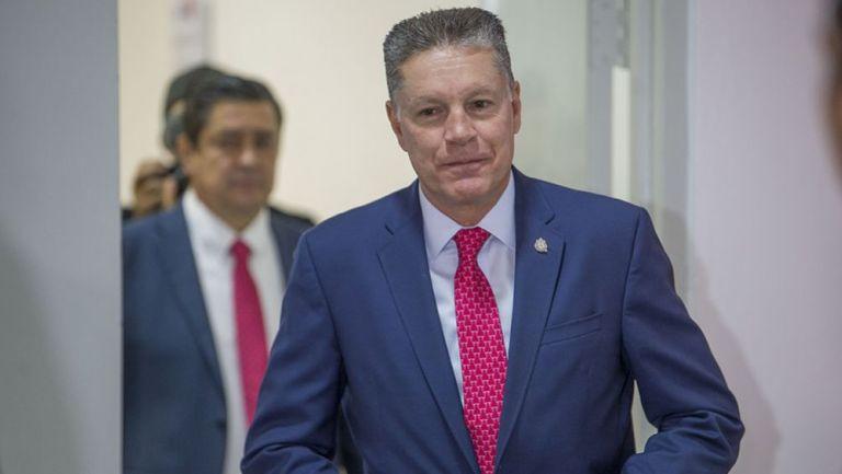 Ricardo Peláez, previo a una conferencia de prensa con Chivas