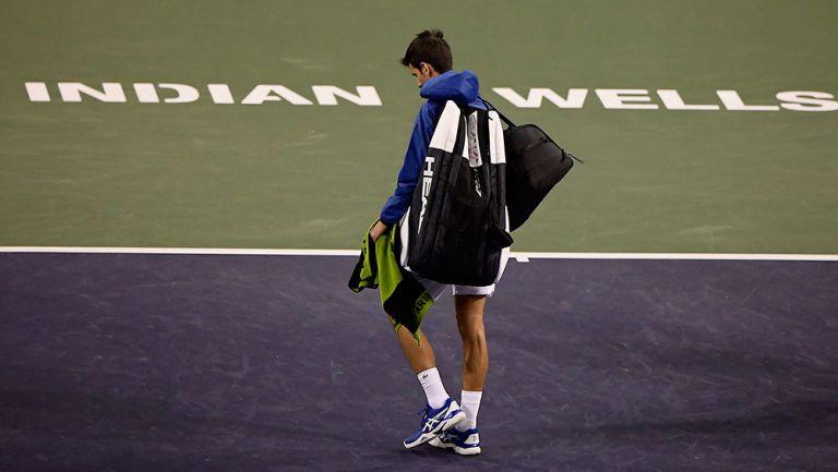 Novak Djokovic durante un partido de Indian Wells