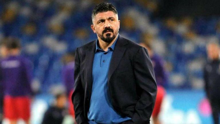 Gattuso en un juego del Napoli