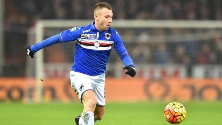 Cassano, durante un partido de la Sampdoria