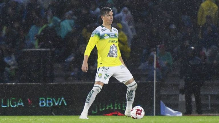 González, en un partido de León
