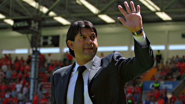 José Saturnino Cardozo previo a un partido con Toluca