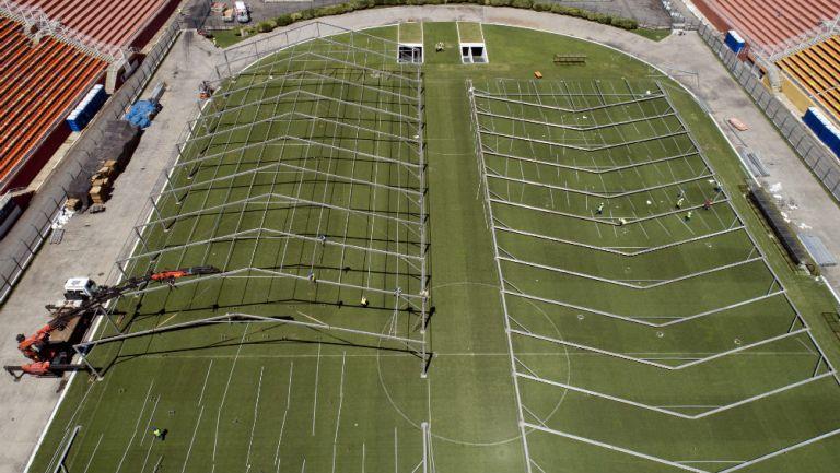Estadio Pacaembu, en Sao Paulo, Brasil