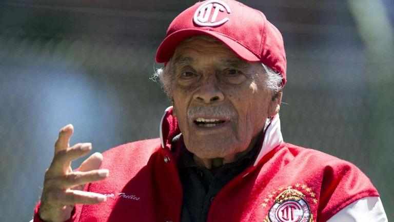 Nacho Trelles, durante un homenaje con Toluca