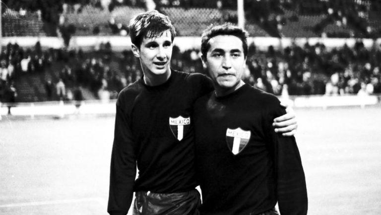 Enrique Borja e Isidoro Díaz en el Mundial de Inglaterra 1966