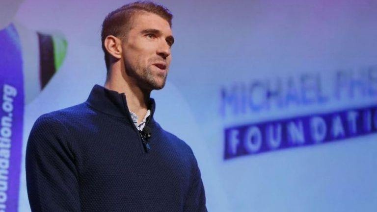 Phelps, en una conferencia de prensa