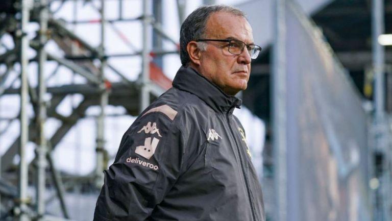 Marcelo Bielsa, durante un juego de Leeds