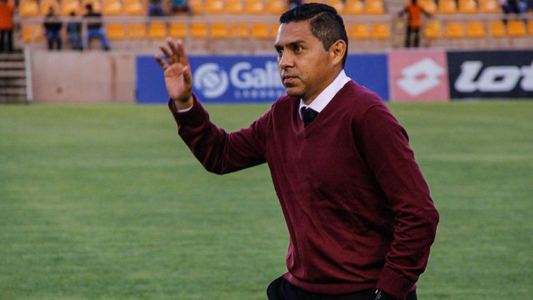Ramón Morales previo a un duelo de Coras
