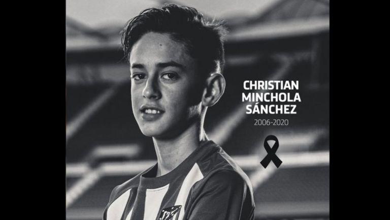 Christian Minchola, promesa del Atlético que murió a las 14 años