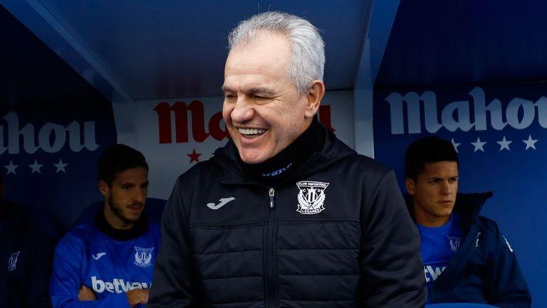 Javier Aguirre sonríe en un juego del Leganés