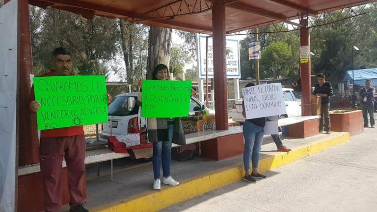 Protestas ante falta de insumos en Edomex