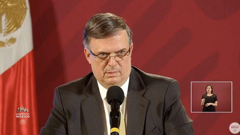 Ebrard, durante la conferencia de prensa de este lunes