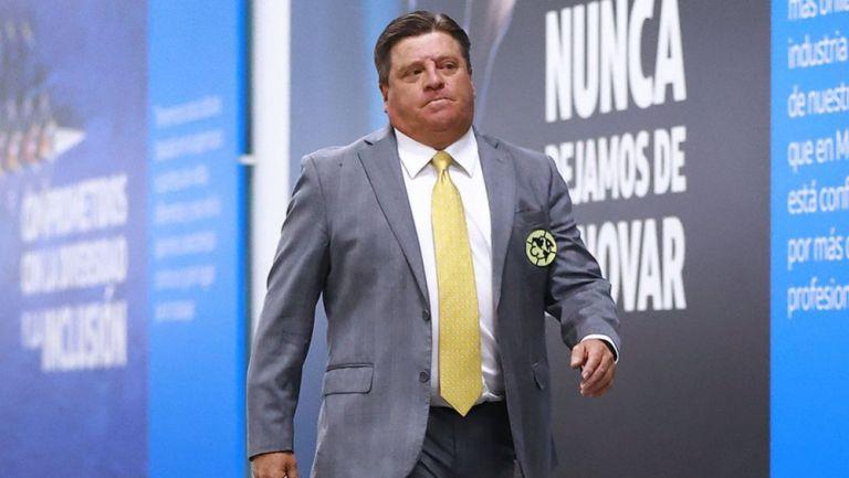 Miguel Herrera previo a un juego del América