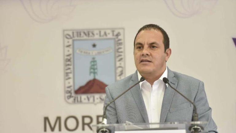 Blanco durante un evento como Gobernador de Morelos