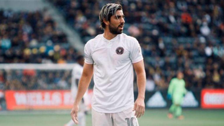 Rodolfo Pizarro, en un juego con el Inter de Miami