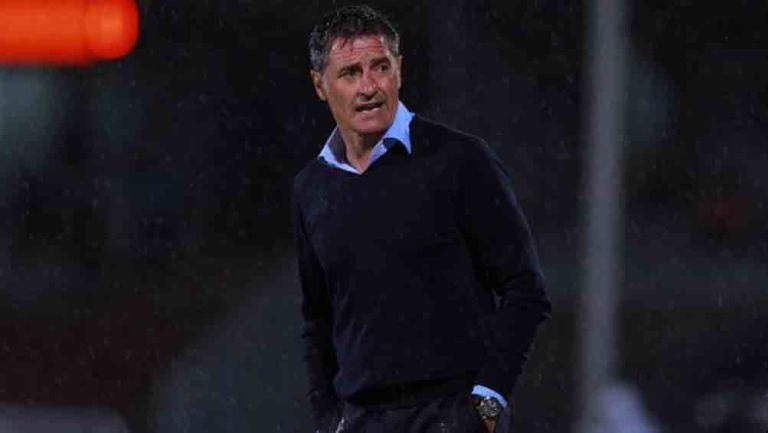 Míchel González, durante un duelo de Copa en CU