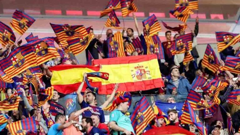 Aficionados del Barça durante a la Final de Copa