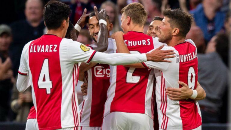 Ajax en celebración de gol