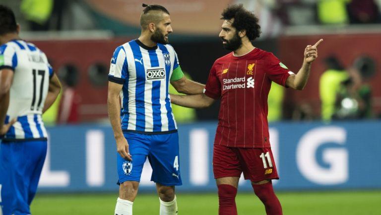 Nico Sánchez junto Mohamed Salah en el Mundial de Clubes 2019