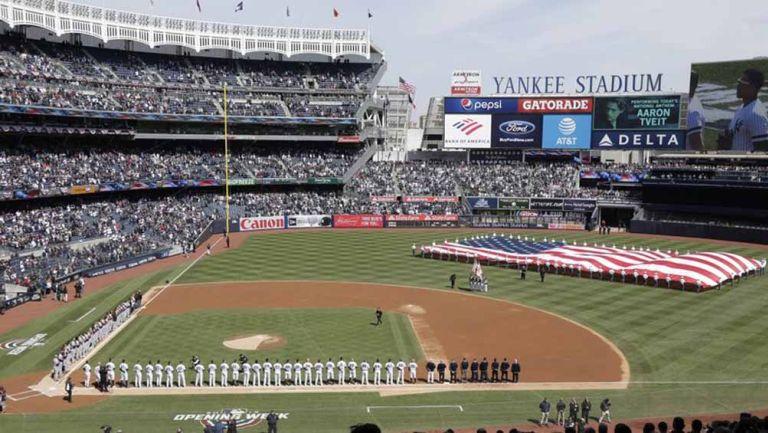 Jugadores de la MLB, durante el 'Opening Day'