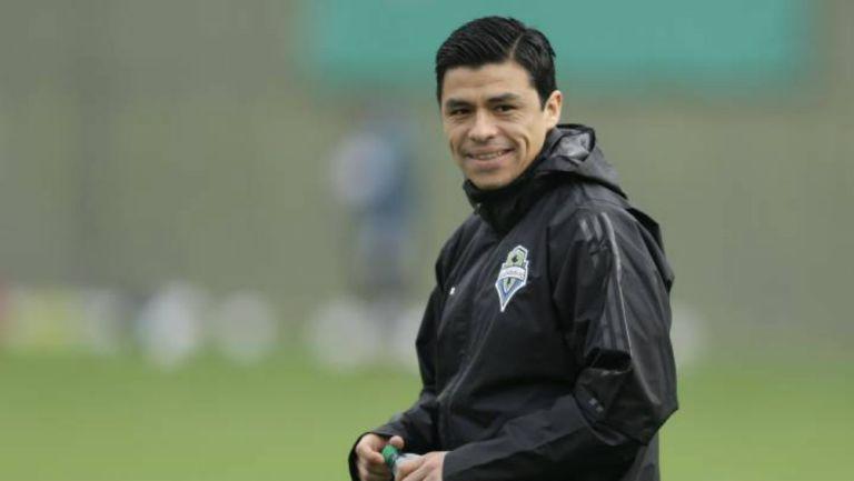 Gonzalo Pineda en entrenamiento de la MLS