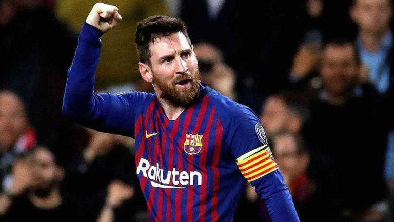 Lionel Messi durante un partido del Barcelona