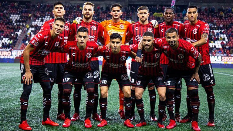 Jugadores de Tijuana, previo a un duelo de Liga MX