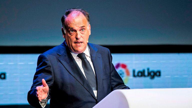 Presidente de La Liga española confía en reanudar torneo en junio