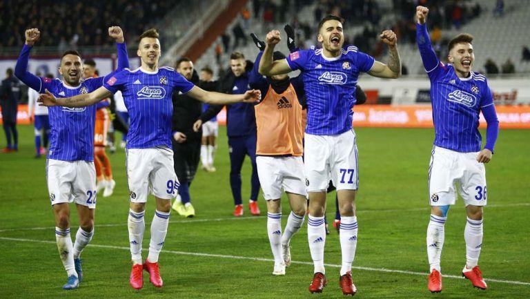 Elementos del GNK Dinamo Zagreb tras una victoria