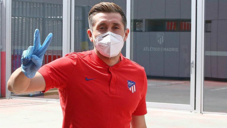 Héctor Herrera después de realizarse las pruebas