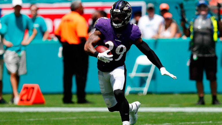 Earl Thomas, en un juego de los Ravens