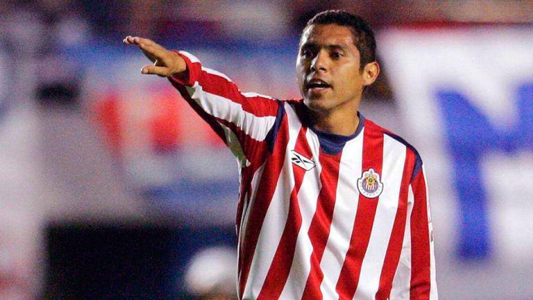 Ramón Morales, durante un juego de Chivas