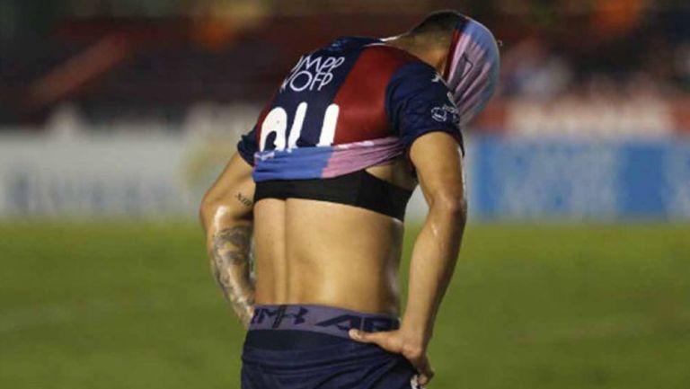 Jugador de Atlante tras una derrota en el Ascenso MX