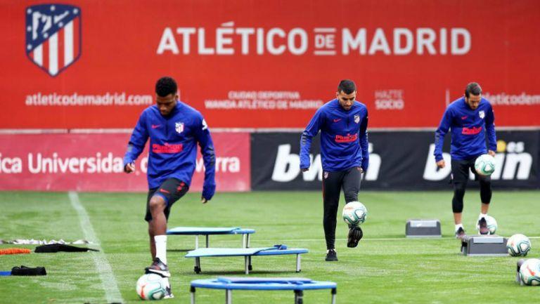 Atlético de Madrid en entrenamiento