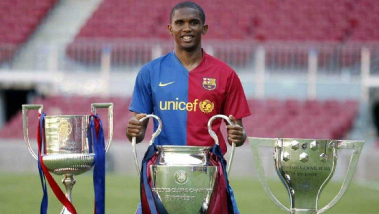 Samuel Eto'o en su paso por el Barcelona