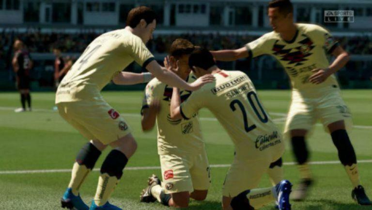 Las Águilas celebrando un gol contra los Zorros