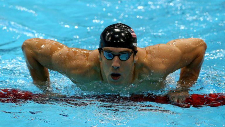 Michael Phelps en práctica de natación