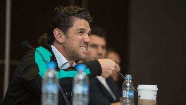 Alejandro Irarragorri durante una conferencia de prensa