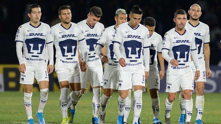 Jugadores de Pumas en el partido contra FC Juárez