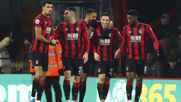 Jugadores del Bournemouth en festejo