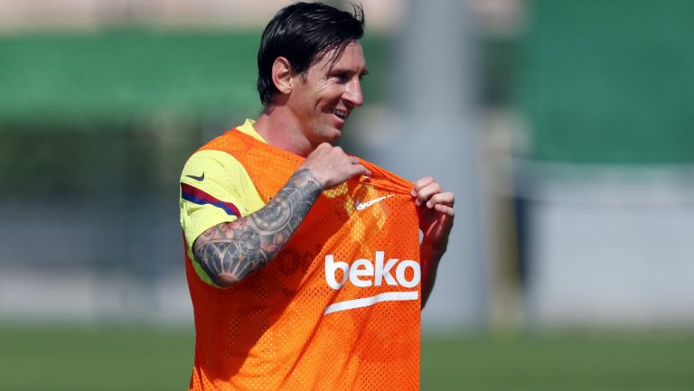 Messi en entrenamiento