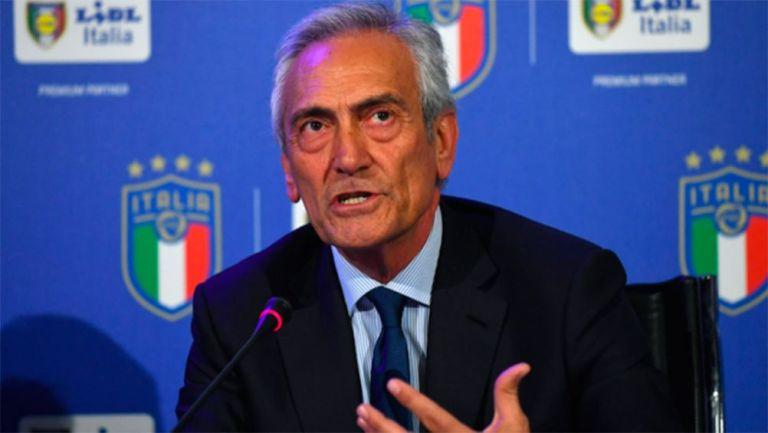 Gabriele Gravina, en conferencia de prensa