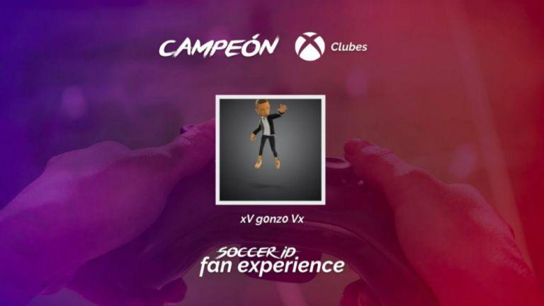 Ganador del Torneo Clubes Xbox Soccer ID