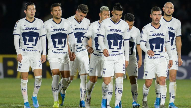 Pumas en partido de la Liga MX