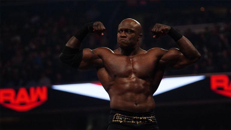 Bobby Lashley durante una lucha en WWE